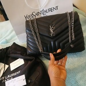 YSL loulou calfskin medium shoulder bag